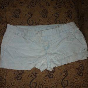 Hurley, size 9, corduroy shorts, light blue